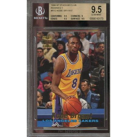 1996 97 Stadium Club Rookies 1  R12 Kobe Bryant Rookie Bgs 9 5  9 5 9 9 5 9 5