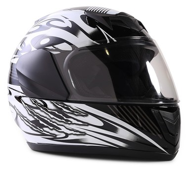 Typhoon Youth Full Face Black Helmet Size Small