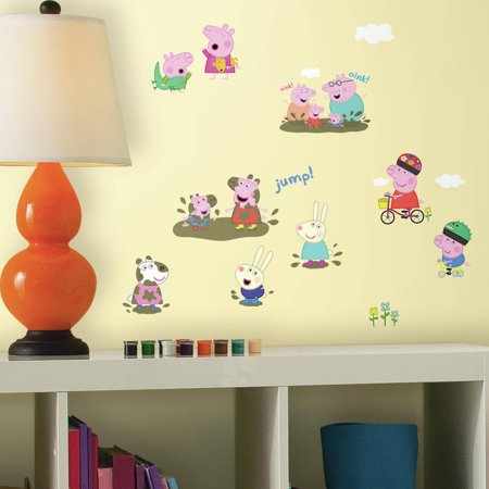 RoomMates Peppa The Pig Peel And Stick Wall Decals Walmartcom - Wall decals walmart