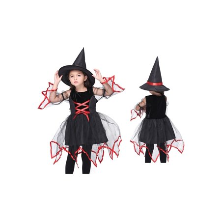 Girl's Classic Magic Witch Halloween Costume 2 Piece - Magic Springs Halloween