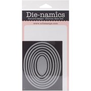 """Die-Namics Dies-Pierced Oval STAX, .75"""" To 4.25"""""""