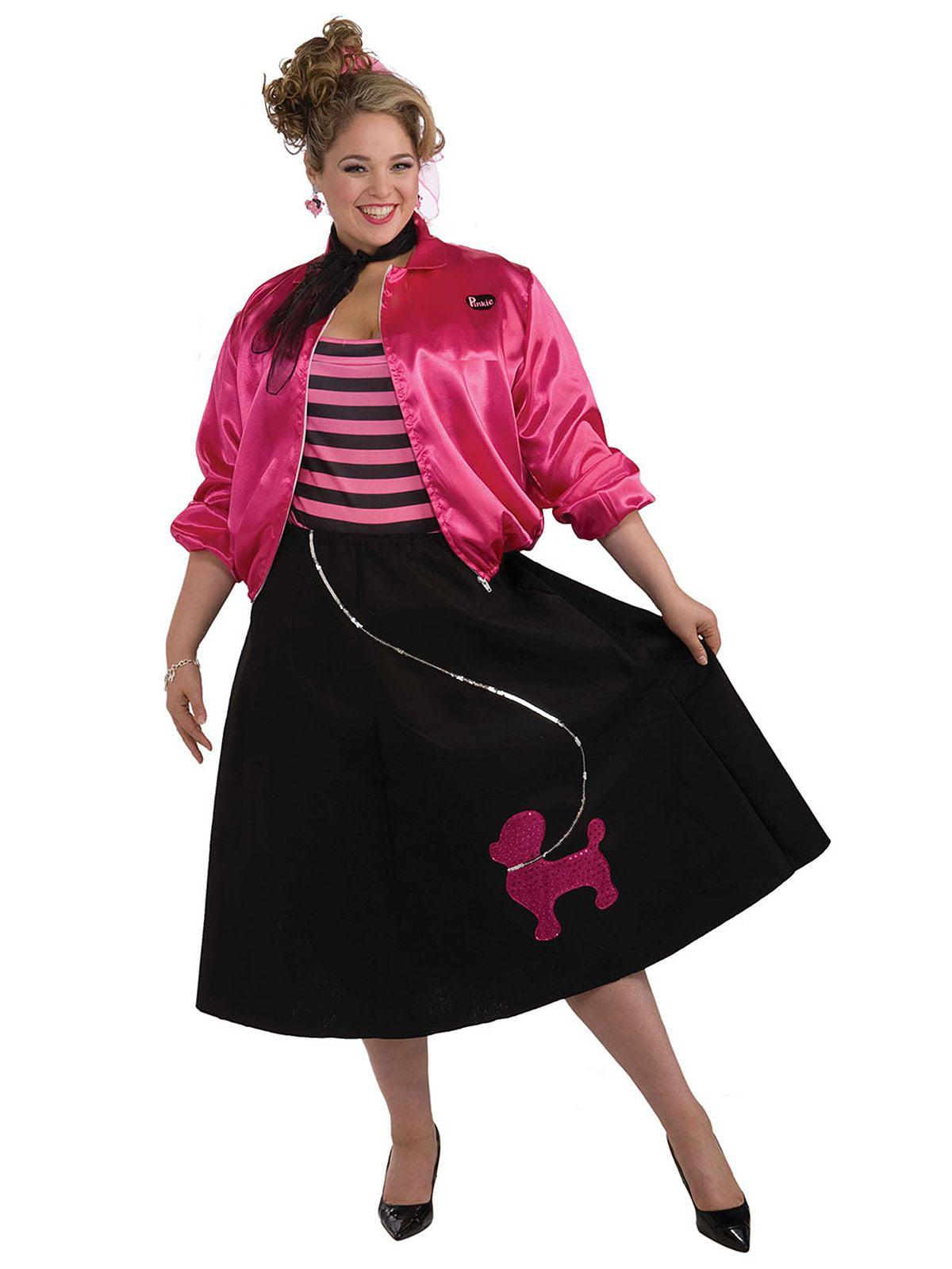 13cfa09edb5 Plus Size Poodle Skirt 50s Costume Set - Size 16-22