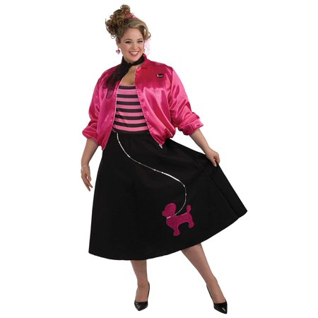 Plus Size Poodle Skirt 50s Costume Set - Size 16-22 (Mens 50s Costume)