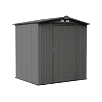 Product Image Ezee Shed Steel Storage 6 X 5 Ft Galvanized Low Gable Charcoal