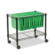 Alera Single-Tier Rolling File Cart, 24w x 14d x 21h, Black -ALEFW601424BL