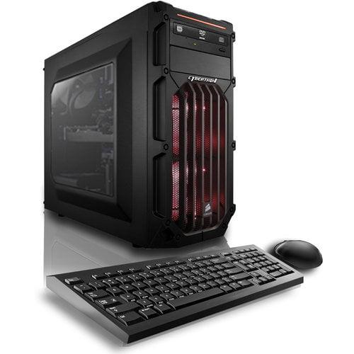 CybertronPC Red Palladium 950X Desktop PC with Intel Core i5-6400 Quad-Core Processor, 8GB Memory, 1TB Hard Drive and Windows 10 Home (Monitor Not Included)