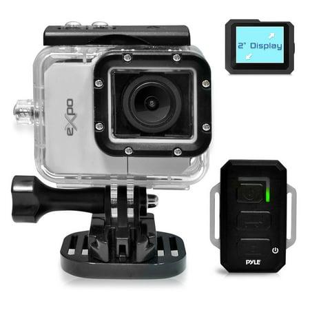 PYLE-SPORT PSCHD90SL - PYLE eXpo Hi-Res Action Cam with Full HD 1080p Video, 20 Mega Pixel Camera, 2