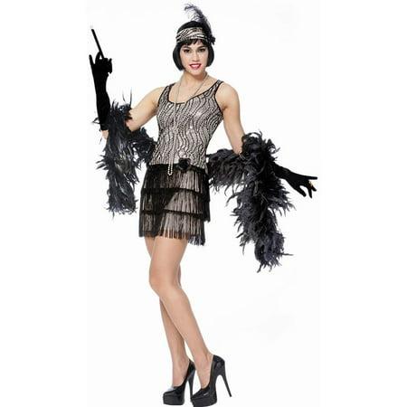 Silver Broadway Flapper Womens Costume](Broadway Halloween)