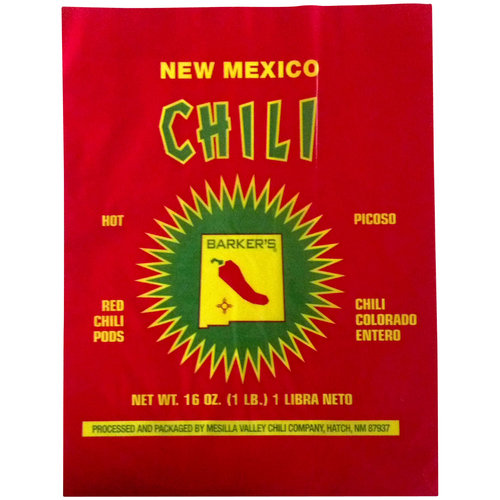 Barker's Red Hot Dehydrated Chili Pods, 16 oz