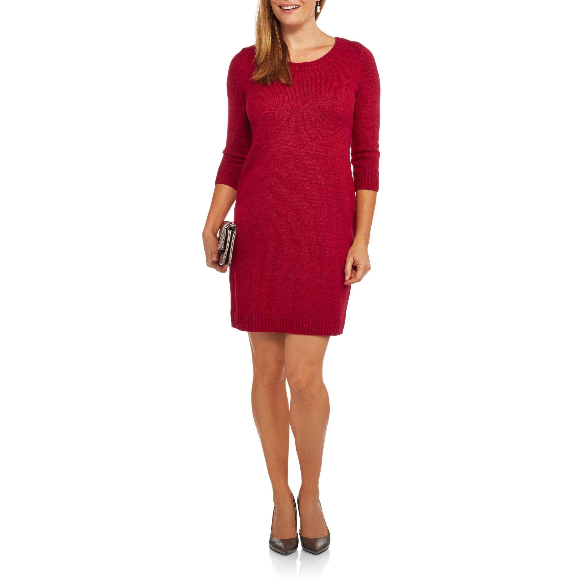 Faded Glory Women's Solid and Marled Sweater Dress