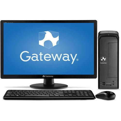 "Gateway SX2110G-UW308 Small Form Factor Desktop PC with AMD E1-1200 Processor, 4GB Memory, 21.5"" Monitor, 500GB Hard Drive and Windows 8"