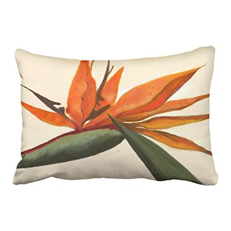 WinHome Cute Retro Fashion Bird Of Paradise Polyester 20 x 30 Inch Rectangle Throw Pillow Covers With Hidden Zipper Home Sofa Cushion Decorative Pillowcases Bird Of Paradise Cover