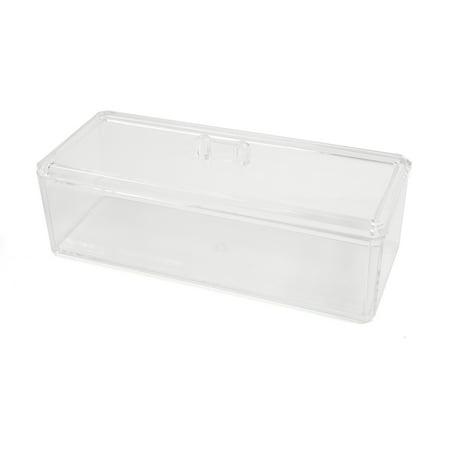 Acrylic Bins - Clear Acrylic Organizer Lipstick Holder Desktop Jewelry Storage Box Cotton Swabs Box Cotton Balls Case with Cover