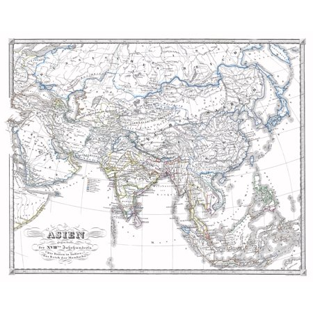 International Map - Asia - End of 18th Century - Spruner 1855 - 28.84 on large map of asia, google map of asia, political features of asia, pdf map of asia, physiographic map of asia, spanish map of asia, zoom map of asia, interactive map of asia,