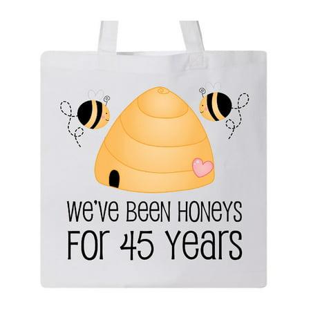 Wedding Totes (45th Year Wedding Anniversary Honeybees Tote Bag White One)