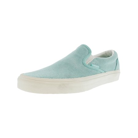 96dd7c5bf7 Vans - Vans Classic Slip-On Perforated Suede Blue Light   Blanc De  Ankle-High Fashion Sneaker - 7.5M 6M - Walmart.com