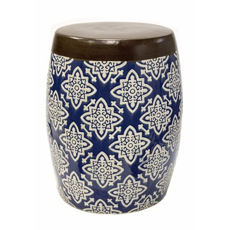 Awe Inspiring Benzara Sophia Ceramic Garden Stool Multicolor Walmart Com Ncnpc Chair Design For Home Ncnpcorg