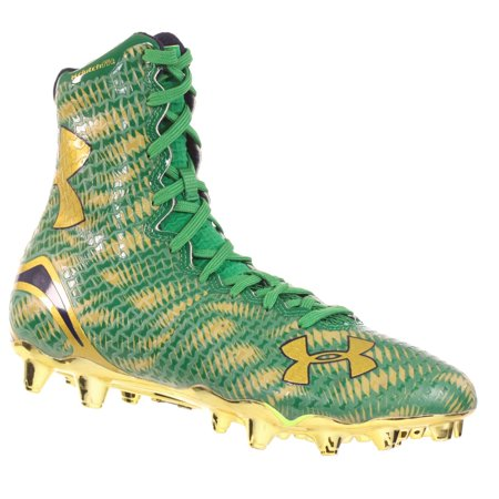 sports shoes 7681c e88e1 UNDER ARMOUR MEN S FOOTBALL CLEATS HIGHLIGHT MC LE GREEN GOLD PURPLE 8 M -  Walmart.com