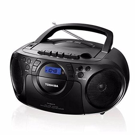 Toshiba Portable Boombox CD / USB Radio Cassette Tape Recorder MP3 Playback Digital Sound AM/FM Radio, Headphone Terminals and Remote - 110V-240V Worldwide Use ( TY-CKU310K)