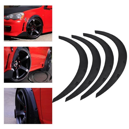 Anauto Wheel Fender Flares 4pcs Car SUV Universal Mudguards Flares Arches Wheel Eyebrow Protector Anti-scratch