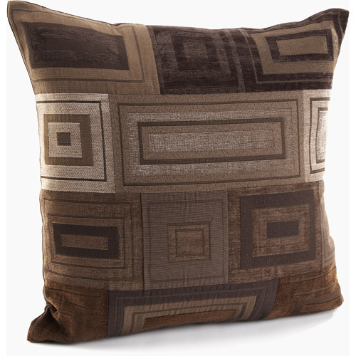 Better Homes and Gardens Brown Geometrics Decorative Pillow