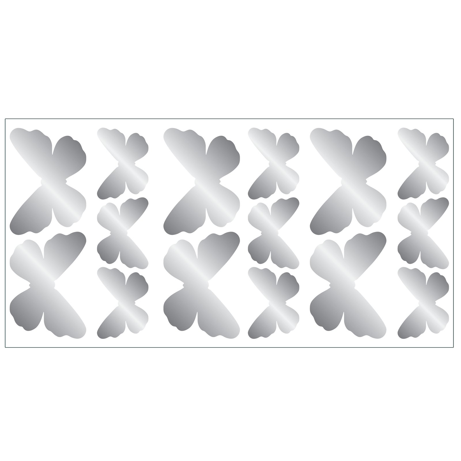 Fun4Walls Butterfly Foil Wall Stickers - Set of 30
