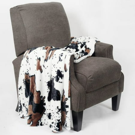 BOON Throw & Blanket Cow Double Sided Faux Fur Throw ()