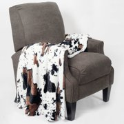 BOON Throw & Blanket Cow Double Sided Faux Fur Throw