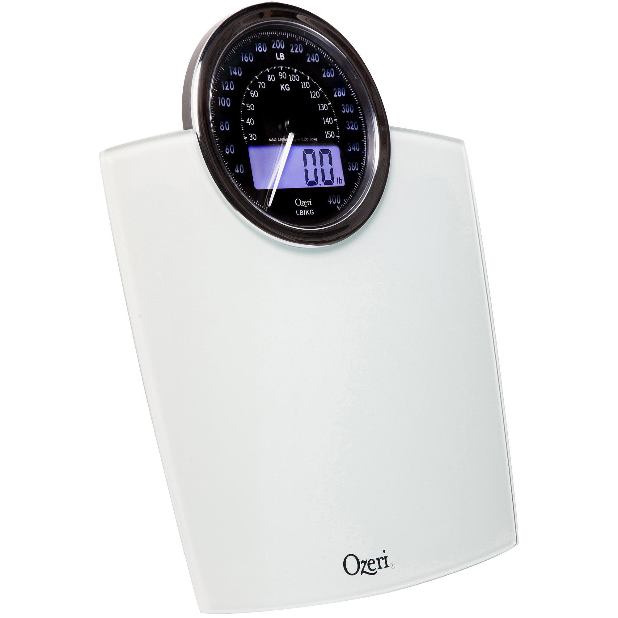 Ozeri Rev Digital Bathroom Scale With Electro Mechanical Weight Dial    Walmart.com