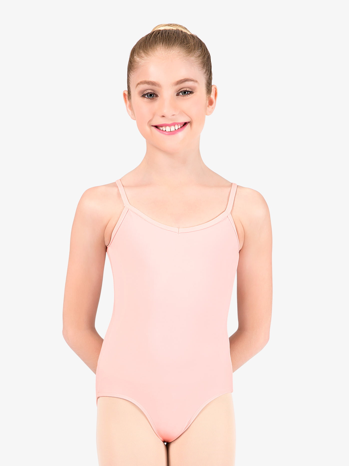 Pink Camo low back dance leotard