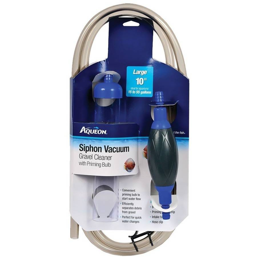 Aqueon Siphon Vacuum Aquarium Gravel Cleaner with Bulb, 10""