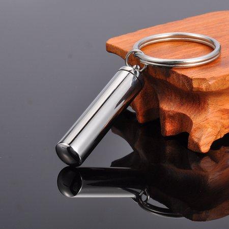 Cylinder Keepsake - 75mm Silver Plain Cylinder Cremation Jewelry Ash Keepsake Memorial Urn Key Chain