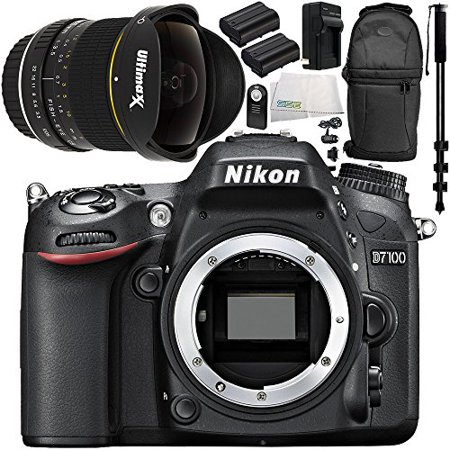 nikon d7100 dslr camera (body only) 9pc accessory bundle – includes