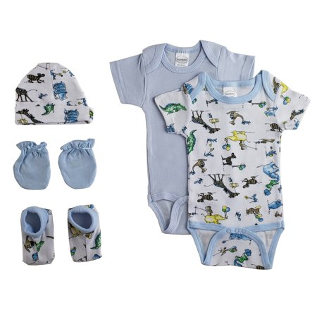Personalized Baby Layette (Newborn Baby Boys 5 Pc Layette Baby Shower Gift Set )
