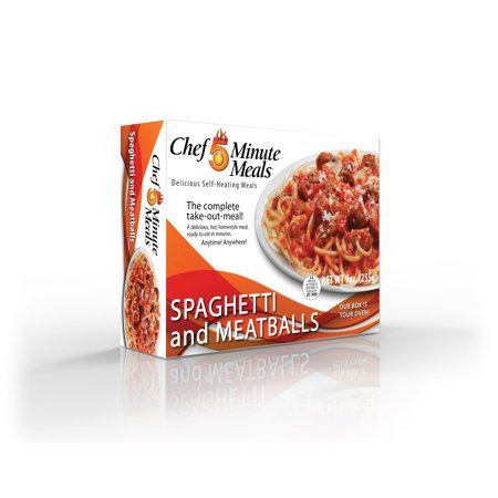 Chef 5 Minute Meals With Self Heating Technology - Spaghetti & Meatballs