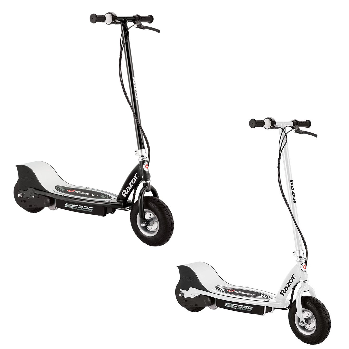 Razor E325 Electric Battery Motorized Ride On Kids Scooters, 1 White & 1 Black by Razor