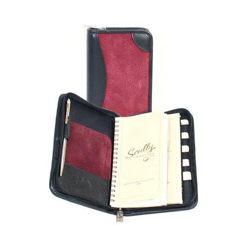 """Scully Zip Pocket Agenda Suede 5008Z  4.5"""" x 7"""" x 1"""""""