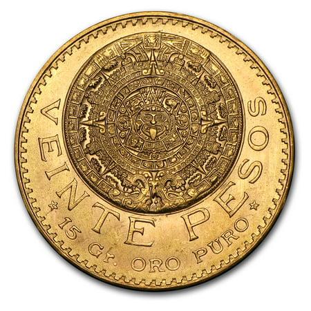 Mexico Gold 20 Pesos AGW .4823 (Random Year) Carson City Gold Coins