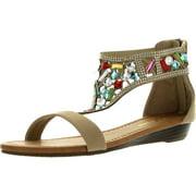 Forever Womens FILOSIA-91 Multi Colored Jewel Fashion Sandals