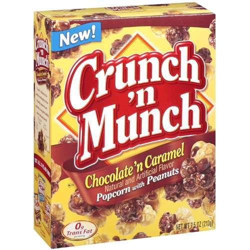 Crunch 'n Munch: Chocolate 'n Caramel W/Peanuts Popcorn, 7.5 oz