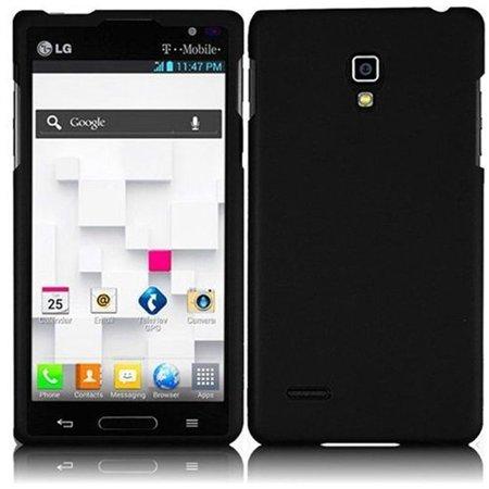 Hard Rubberized Case for LG Optimus L9 P769 - Black (Lg Optimus L9 Tmobile Phone Cases)