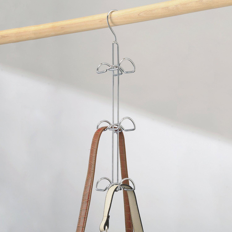Classico Hanging Closet Organizer For Purses, Handbags, Satchels,  Backpacks, Scarves, Pashminas, Slings, Closet Accessories   6 Hooks, Chrome    Walmart.com