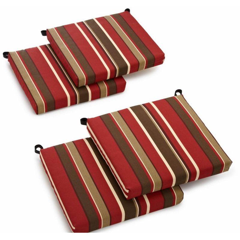 Blazing Needles Set of 4 Outdoor Patio Cushions