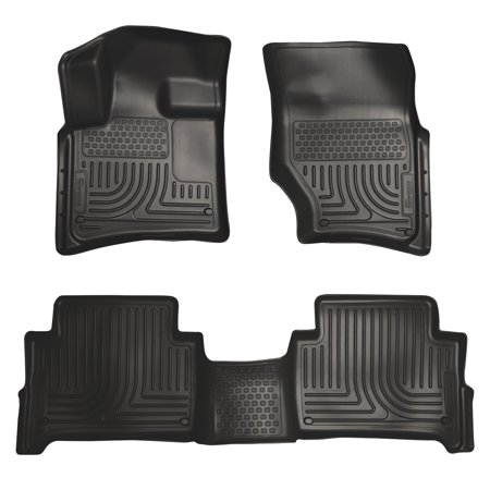 Husky Liners Front & 2nd Seat Floor Liners Fits 07-15 Audi Q7 Bench Seats ()