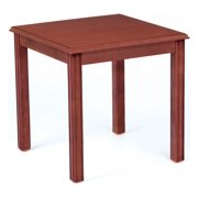 20 in. Office Side Table in Brown Finish (Cherry)