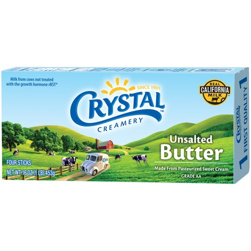 Crystal Creamery Unsalted Butter, 16 oz
