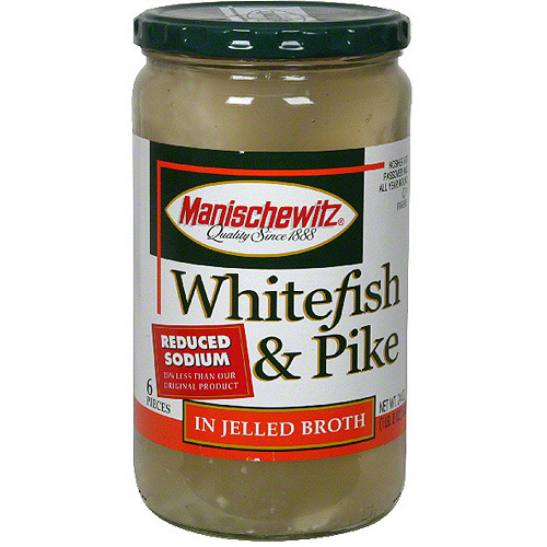 Manischewitz Reduced-Sodium Whitefish & Pike, 24 oz (Pack of 6)