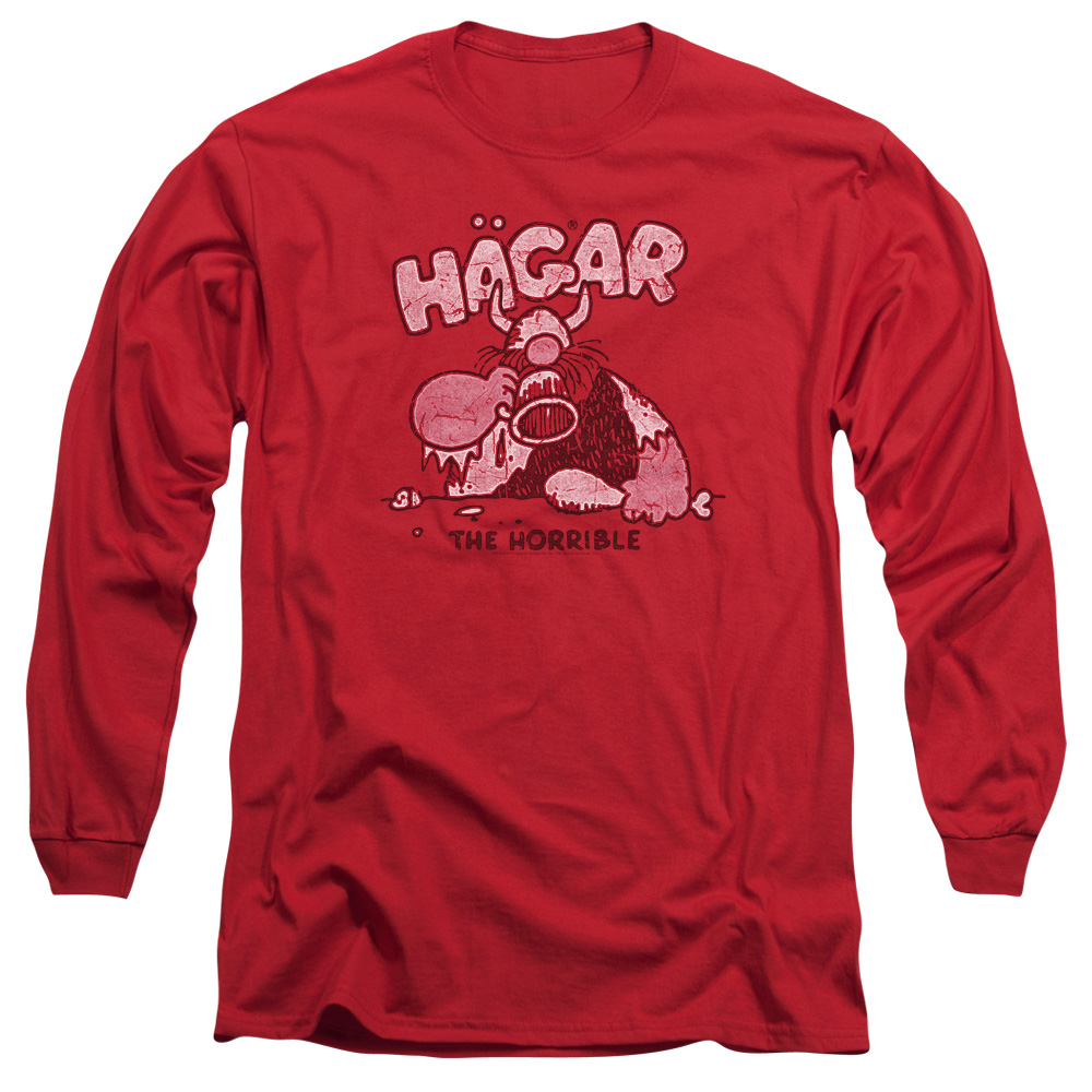 Hagar The Horrible Hagar Gulp Mens Long Sleeve Shirt