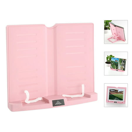 Portable Book Stand Adjustable 6 Angles Book Document Holder Foldable Bookstand Hands Free Desk Reading for Cookbook Recipe Music Book Textbook Tablet Accessories - image 1 of 7