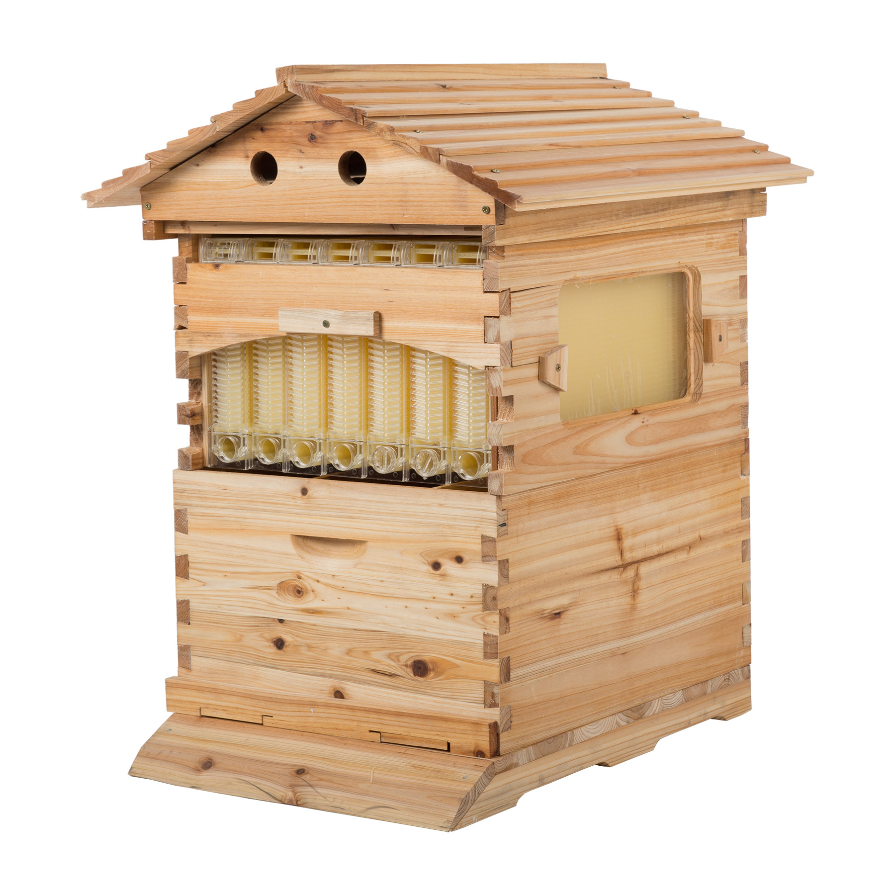 Y-NOT 7PCS Hive Frame/Bee Hive Frame W/ Auto Flowing Honey Hives
